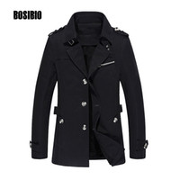 Wholesale- 2017 Men Trench Coat Spring Autumn Casual Slim it Thin Jacket Coat High Quality Male Medium Long Windbreaker Plus Size 5XL 1307