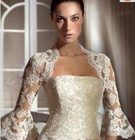 Vestes de mariée 2015 avec des demi-manches accessoires de mariée bon marché enveloppements de mariage avec appliques de mariage fabriqué sur mesure avec une manche anti-déformation
