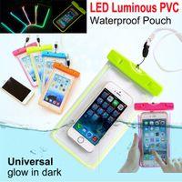 Universal Luminous Unterwasser Telefon Tasche wasserdichte Tasche trockener Fall Deckung für Handy iPhone 5 6 plus S6 Rand S5 Hinweis 5