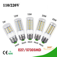 DHL Whloesales 7W 12W 15W 20W 25W E27 220V LED light Bulbs H...