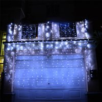 4Mx5M Curtain Style LED Lights 640 LEDs Luci decorative Luci di fondo Luci da matrimonio / luci natalizie