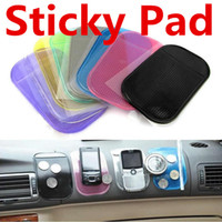 Sticky Pad Anti Slip Mats antidérapant voiture tableau de bord Sticky Pad Mat Sillica Gel voiture magique Sticky Stowing rangement multicolore