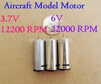 10 SZTUK Model samolotu N60 3V-6V 12200-22000RPM Mikro Mikro Motor Motor Silnik DC Z Otwór chłodzący