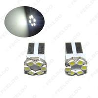 50шт белый T10 6LED 1206 SMD клин лампочки 168 194 лампы для чтения, подсветка номерного знака, подсветка бокового света и т. Д. # 3694