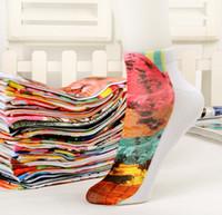 3D gedruckte Socken Unisex niedliche niedrige Schnitt-Söckchen mehrfache Farben Baumwollsocke beiläufige Charactor Socken der Frauen