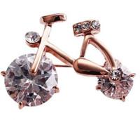 plus la broche poitrine vélo diamant dame (3 * 2.4cm) (400-cn)