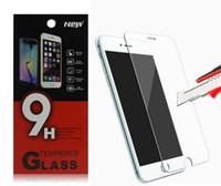 Pour Iphone 6 6S Plus écran en verre trempé Protetor anti-empreintes digitales Meilleur 0.3mm 2.5D pour Iphone6 Samsung Galaxy S5 Note 4 5 Paquet de papier