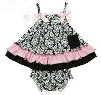 Sommer Baby Set Mädchen Blume Rüschen Tank Tops + PP Shorts 2 stücke Outfits Kinder Kleinkind Baby Sets Baumwolle Sport Säuglingskleidung 10599