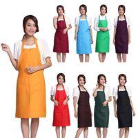 Plain Apron Schürzen mit Front Pocket Bib Küche Kochen Handwerk Chef Backen Kunst Adult Teenage College Kleidung