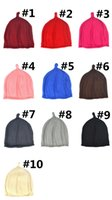 Free DHL 10 Color Winter Knitted Kids Hats Baby' s Curle...