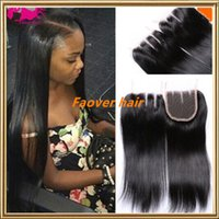 "top grade 8A Brazilian virgin hair 4"" x4"" size thre..."