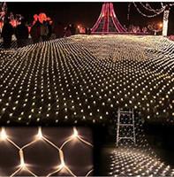 3m * 2m 200 LED Net Lights Malha Fairy Light Strings Luz Partido de Natal do Casamento com 8 Controlador de Função EU US.Au.uk Plug AC110V-250V