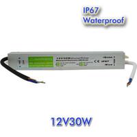 30W AC a DC a DC a DC 12V Impermeabile IP67 Driver Electronic Driver ESTERNO Uso dell'alimentatore LED Strip Transformer Adapter per la luce subacquea