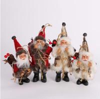 Рождество Санта Клауса Кукла игрушка Рождественская елка Украшения Украшения Изысканный Для Дома Рождество С Новым Годом подарок