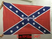 Bandiera stampata a due lati Confederato Rebel War War War Bandiera Nazionale Polyester Bandiera 5 x 3ft 50pcs