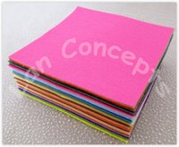 Free shipping DIY Polyester Felt Fabric Nonwoven Sheet for Craft Work 49 Colors to Choose From - 300x300x1mm 98pcs/lot LA0076