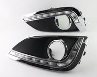 Lumière vive du jour blanche LED feux de voiture feux de voiture brouillard DRL LED jour lumière courante pour Hyundai IX35 2010-2013