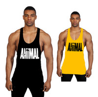 Hombres Gym Stringer Tank Top Bodybuilding Fitness algodón sin mangas T Shirt Chaleco de los hombres Gym Tank Tops Ropa deportiva