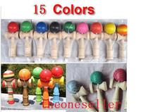 Freeshipping 15 цветов 19 см Kendama игрушка японский традиционный деревянный мяч игрушка образование подарки 200 шт. / лот Рождественский подарок