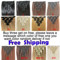 New 2016 Clip in 22inch 7pcs  full head synthetic hair exten...