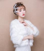 Robes de mariage de châle de mariée à manches longues plus grandes tailles manteau chaud style coréen 7 couleur taille libre