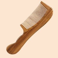 New Wood Comb Handmade Fine Tooth Wave Handle Large Hair Com...