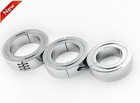 Мошонка кулон мяч растяжитель выдвижной пенис блокировка металлический петух кольцо задержка секс-игрушки для мужчин 3 размеры для выбора