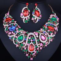 Böhmische Süd-Afrika Naher Osten Hochzeit Accessory1 Set Braut Halskette Ohrringe Brautschmuck Kostenloser Versand Auf Lager Luxus 2018