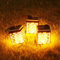 Solar Powered LED Simulation Flame Lantern Wall Light outdoo...