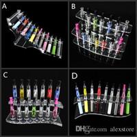 Acryl e cig display rahmen schaufenster klar ausstellungsregale stehen zeigen elektronische zigarettenspitze rack für clearomizer ego batterie DHL