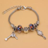 Livraison gratuite Arrivée Charm Bracelet Charm Perle européenne Miroir RDP Coiffeuse Sèche-cheveux breloque gros bijoux