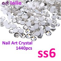 Wholesale- 1440p SS6 2mm 3D Nail Art Rhinestones Sticker Des...