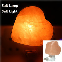 Salt lamp table desk Lamp night light pyramid Crystal Rock n...