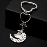 Portachiavi 패션 chaveiro 실버 llaveros 하트 열쇠 고리 나는 당신을 사랑합니다 달 그리고 뒤로 열쇠 고리 여성용 porte clef