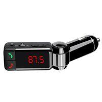 Bluetooth Car Kit BC06 беспроводной автомобильный динамик BT Hands Free Dual USB автомобильное зарядное устройство 3.5 мм AUX-IN FM передатчик для Samsung iPhone Mobile