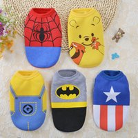 Cute Cartoon Dogs Clothes Winter Pet Dogs Vest Dog Clothes F...