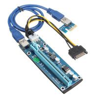 Freeshiping 5 sztuk Najnowszy 60cm USB 3.0 15 Pin PCie Card PCI-E Express 1x TO16X Extender Riser Card Adapter Cable SATA 15 PIN Kabel zasilający