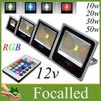 RGB 10W ultra mince 20w 30w 50w a mené des projecteurs étanches de la lampe de mur extérieure de lumière crue IP66 LED 90-260v AC / DC 12V UL de la CE SAA