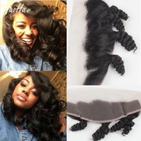 Raw Remy Human Hair Pre- plucked Natural Hairline Lace Fronta...