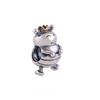 2016 NUOVO 925 Sterling Silver Thread Queen Bee Charm Beads adatto a stile europeo Pandora bracciali collane gioielli fai da te all'ingrosso