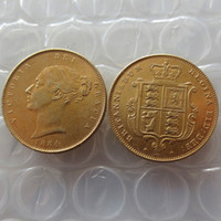 1884s королева Виктория молодая голова золотая монета очень редкая половина Суверена умирает копия монеты продвижение дешевые заводские цены хорошие аксессуары для дома монеты