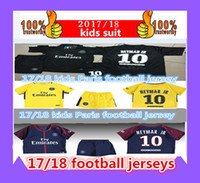2017 kids Third black psg KITs neymar jr Soccer Sets home aw...