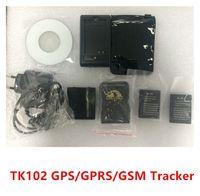 Veículo espião Rastreador de tempo real GPS / GSM / GPRS Tracker de carro TK102 Mini Global Track 5 pcs / lote Frete Grátis