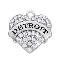 Бесплатная доставка Новая Мода Легко diy 3 шт. Много Детройт сердце очаровывает Американский город ювелирных изделий, пригодный для ожерелье или браслет