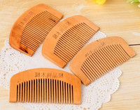 New Natural Peach Wooden Comb Beard Comb Pocket Comb