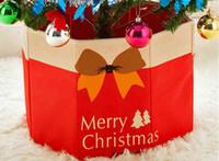 Рождественская елка нога коробка нетканые ткани декоративные Рождественская елка юбка декоративные Навидад орнамент 30 * 36 см Арвор де Наталь