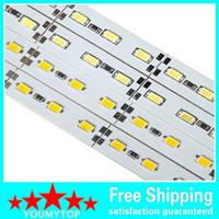 100 M / grup Sert Sert Bar ışık DC12V 72 led / m SMD 5630 Alüminyum Alaşım Kabine Için Led Şerit ışık / Takı Ekran