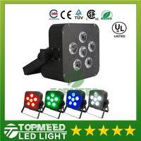 DHL 6x8w LED Par Licht Wireless 4in1 Batterie führte flache drahtlose DMX LED Bühne batteriebetriebene LED flache Par Lichter Club Beleuchtung 44