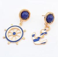نوعية جيدة جديد 2015 الأزياء والمجوهرات حجر الراين المراس مربط القرط للنساء بيان أقراط هدية عيد EH051