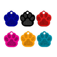 Mode Paw Forme Pet ID Tag Dog Nom Adresse Anti-perdu Chiot Chien Chaton Alliage D'aluminium Bijoux ZA5425